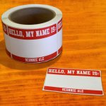 """2.5"""" x 3.5"""" Hello, My Name is...Sticker (pack of 20) - 2.99"""