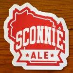 """4"""" x 4"""" Sconnie Ale Vinyl Sticker - 1.99"""